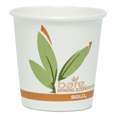 Bare by Solo Eco-Forward Recycled Content PCF Paper Hot Cups, 12 oz, 1,000/Ct