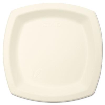"Bare Eco-Forward Sugarcane Dinnerware Perfect Pak, 6 7/10"" Plate, Ivory, 125/Pk"