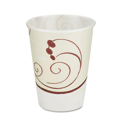 Symphony Design Trophy Foam Hot/Cold Drink Cups, 10oz, Beige, 60/Pack