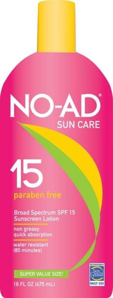 No-Ad 212 SPF 15 Sunblock Lotion, 16 oz, Lotion