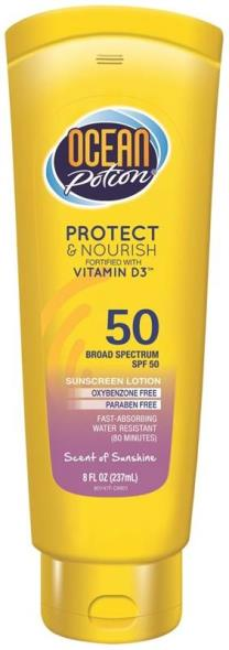 Ocean Potion 80147 SPF 50 Anti-Aging Sunblock Lotion, 8 oz, Lotion