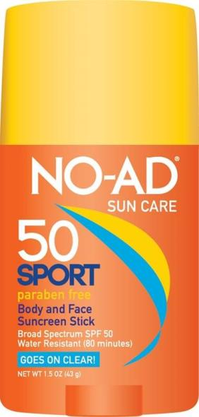 No-Ad 21417-400-DM06 SPF 50 Sport Sunscreen Stick, 1.5 oz