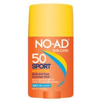 No-Ad 21417-400-DM06 SPF 50 Sport Sunscreen Stick, 1.5 oz
