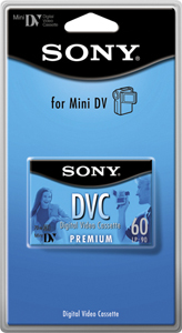 SONY DVM60PRL/1BP 60-Minute Premium Mini Digital Video Cassette
