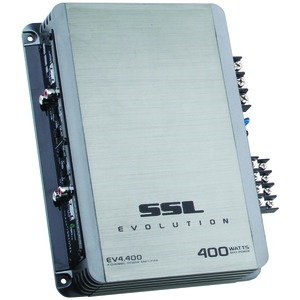 Sound Storm Laboratories EV4.400 EVOLUTION Series Full-Range 400-Watt 4-Channel MOSFET Class AB Amp (Silver)