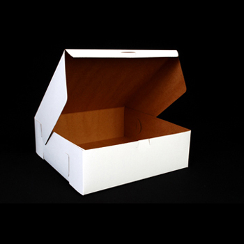 Bakery Boxes, White, Paperboard, 12 x 12 x 4, 100/Carton