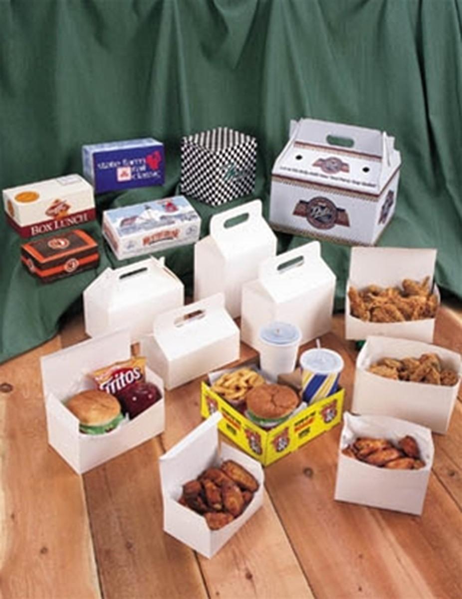 Carryout Barn Boxes, 8 7/8 x 5 x 6 3/4, White, 150/Carton