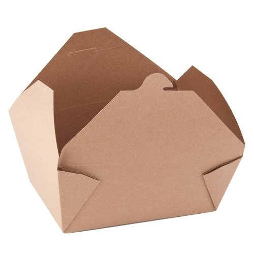 ChampPak Retro Carryout Boxes, 7-3/4 x 5-1/2 x 3-1/2, Brown
