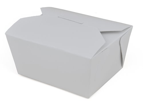ChampPak Retro Carryout Boxes, Paperboard, 4-3/8 x 3-1/2 x 2-1/2, White