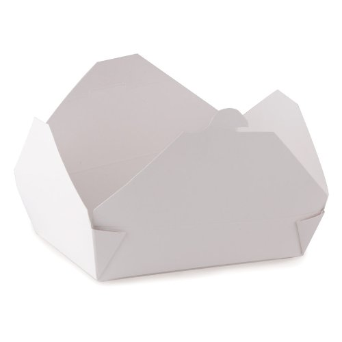 ChampPak Retro Carryout Boxes, Paperboard, 7-3/4 x 5-1/2 x 1-7/8, White