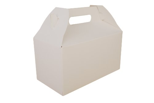 Carryout Barn Boxes, 9 1/2 x 5 x 5, White, 125/Carton