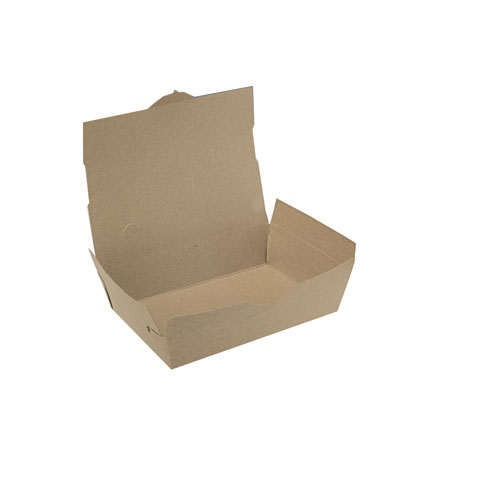 #1 ChampPak Kraft Carryout Boxes, 450 Boxes