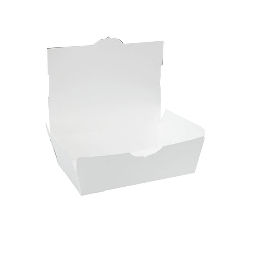 #2 ChampPak White Carryout Boxes, 200 Boxes