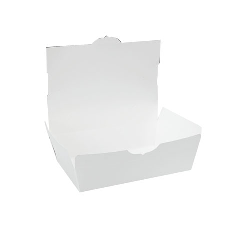 #4 ChampPak White Carryout Boxes, 160 Boxes