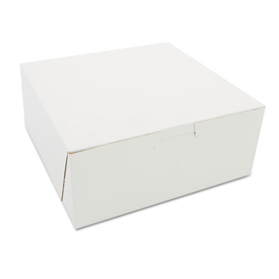 Bakery Boxes, White, Paperboard, 7 x 7 x 3, 250/Carton