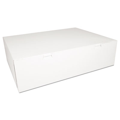 Bakery Boxes, White, Paperboard, 18 1/2 x 14 1/2 x 5, 50/Carton