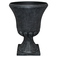 URN 16X21IN WEATHERED BLK