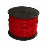 #12 RED STRAND THERMOPLASTIC HIGH HEAT RESISTANT NYLON COATED WIRE