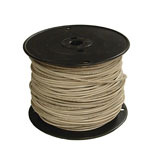 12 GAUGE WHITE 500-FOOT THERMOPLASTIC HIGH HEAT RESISTANT NYLON COATED SOLID WIRE
