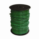 10 GAUGE GREEN 500 FEET THERMOPLASTIC HIGH HEAT RESISTANT NYLON COATED SOLID WIRE