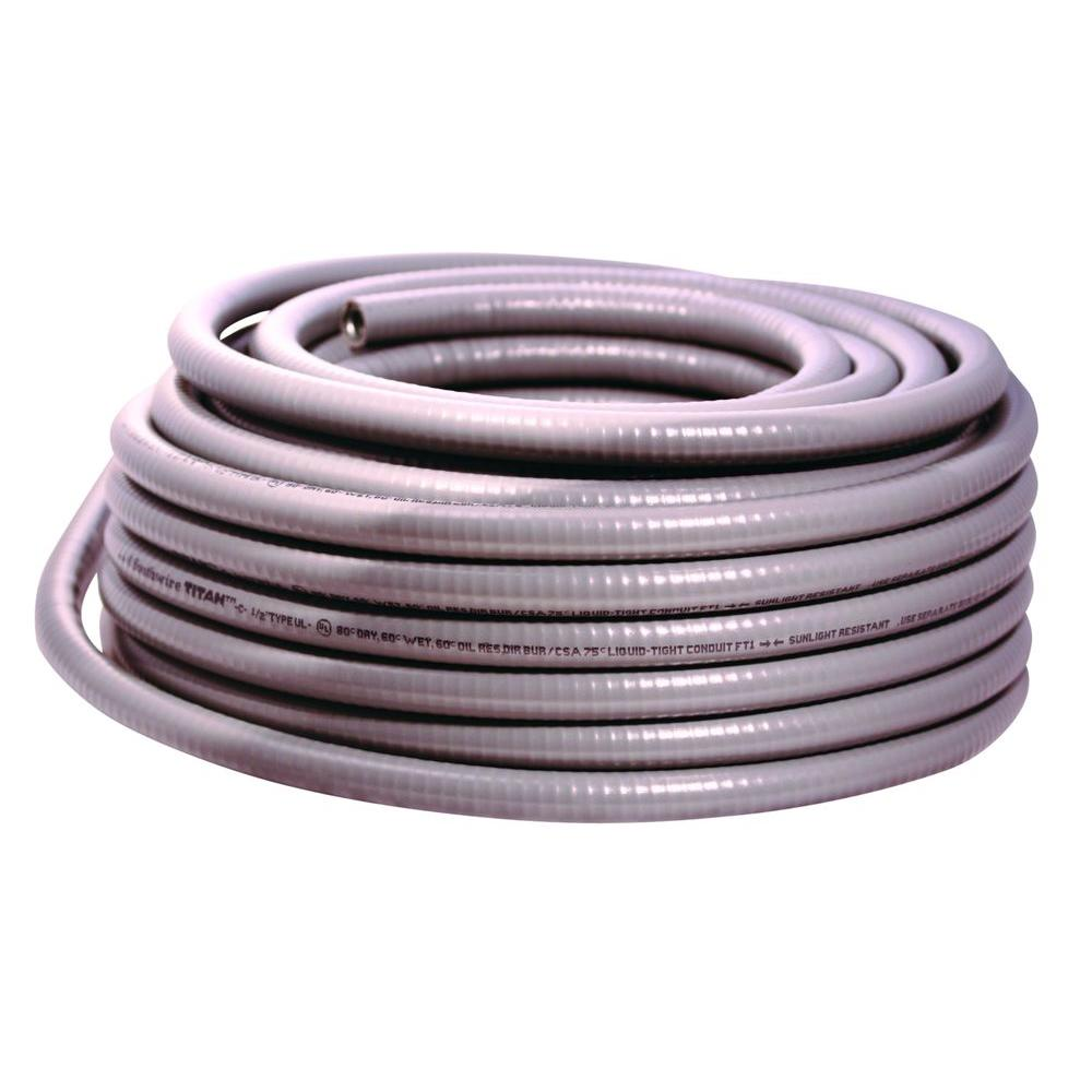 Titan? Type UL Liquidtight Flexible Metal Conduit, 1 in X 100 ft, Steel