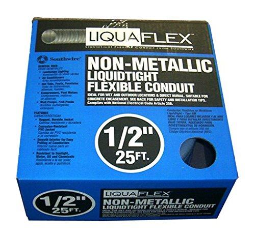 Ultratite 55094221 Liquid Tight Flexible Conduit, 1/2 in x 25 ft, PVC