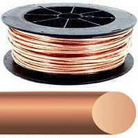 Southwire 2SOLX125BARE Solid Electrical Wire, 2 AWG, 125 ft, Bare