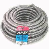 Alflex FO3750050M Type RWA Reduced Wall Flexible Conduit, 3/8 in x 50 ft, Aluminum