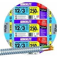 Armorlite 68583401 Type MC Armored Cable, 12/3, 250 m, THHN/THWN