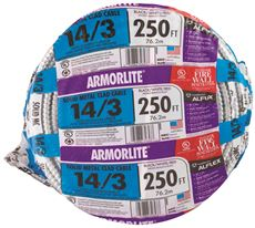 ARMORLITE� TYPE MC ALUMINUM ARMORED CABLE, 14/3, 600 VOLTS, 250 FT. COIL