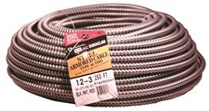 DURACLAD� TYPE AC LIGHTWEIGHT STEEL ARMORED CABLE, 12/3, 600 VOLTS, 250 FT. COIL