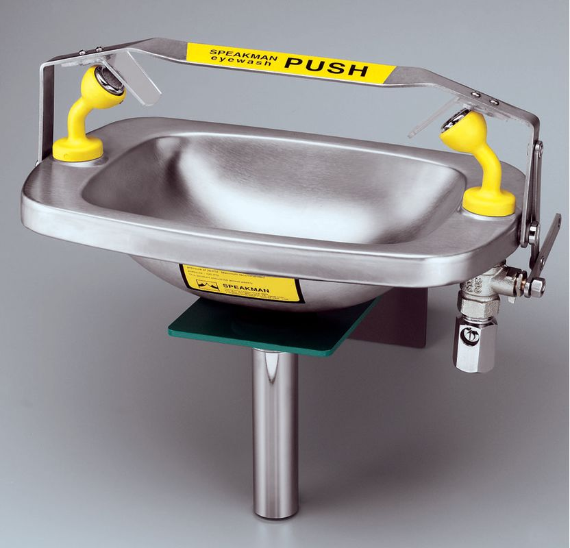 EYE Wash WM Stainless Steel BOWL 2.8 GPM
