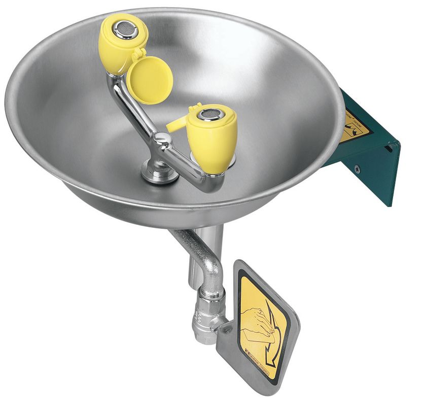 EYEWASH WALL MNT Stainless Steel BOWL 3.6 GPM