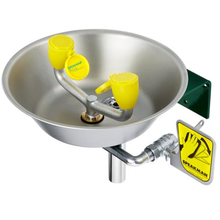 EYE Wash WM Stainless Steel BOWL 4.5 GPM