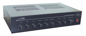 60W PA Mixer Power Amplifier w/ 6 Inputs