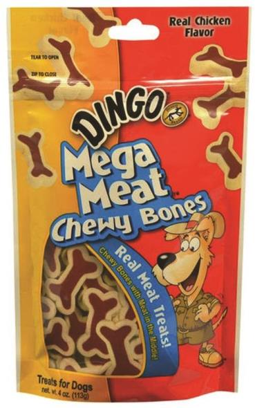 United Pet P-25054-100 Dingo Dog Treats, Mega Meat, 4 Oz