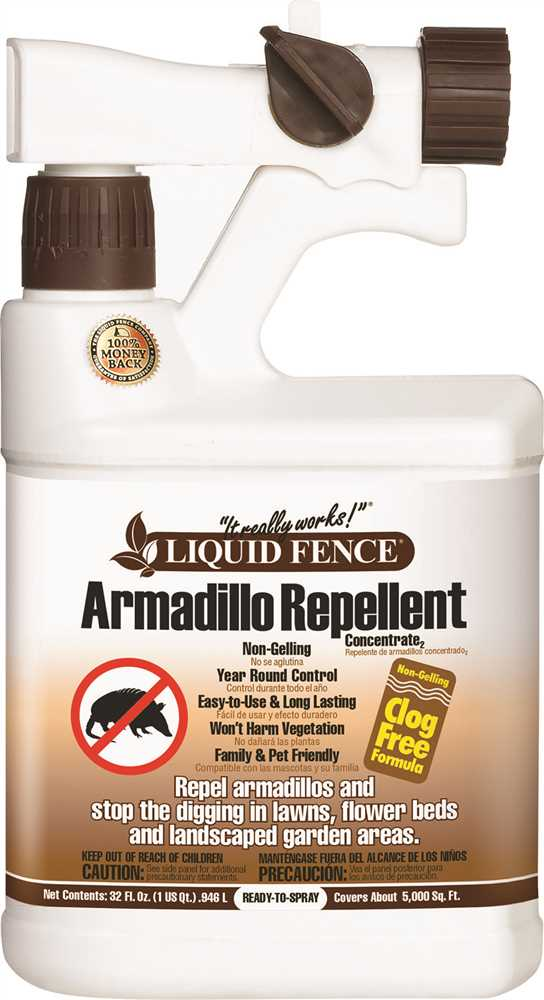LIQUID FENCE� ARMADILLO REPELLENT, CONCENTRATE, READY-TO-SPRAY, 1 QUART