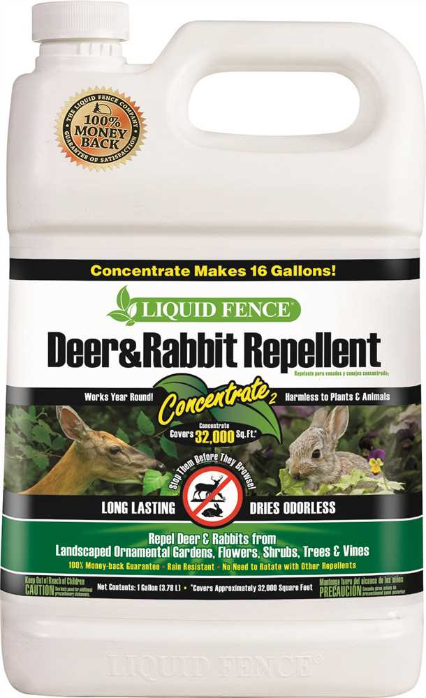 LIQUID FENCE� DEER AND RABBIT REPELLENT, CONCENTRATE, 1 GALLON