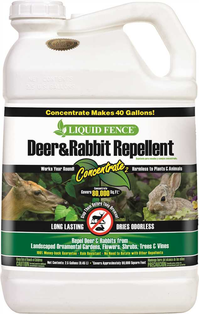 LIQUID FENCE� DEER AND RABBIT REPELLENT, CONCENTRATE, 2.5 GALLONS