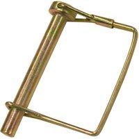 Speeco 07093900/00276 Square Loop PTO Locking Pin, 5/16 in, 2-1/4 in L, Steel