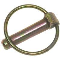 Speeco 07090400/2704 Standard Tractor Lynch Pin, 1/4 in, 2-1/8 in L, Steel, Zinc Plated