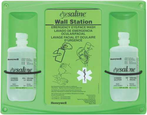 16 OZ DOUBLE EYEWASH WALL STATION