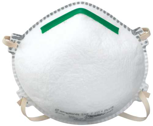 SAF-T-FIT� PLUS N95 RESPIRATOR WITH BOOMERANG NOSE SEAL AND VALVE
