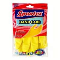 Hand Care 69983 Protective Gloves, Large, Latex, Yellow, Cotton Flock Lining