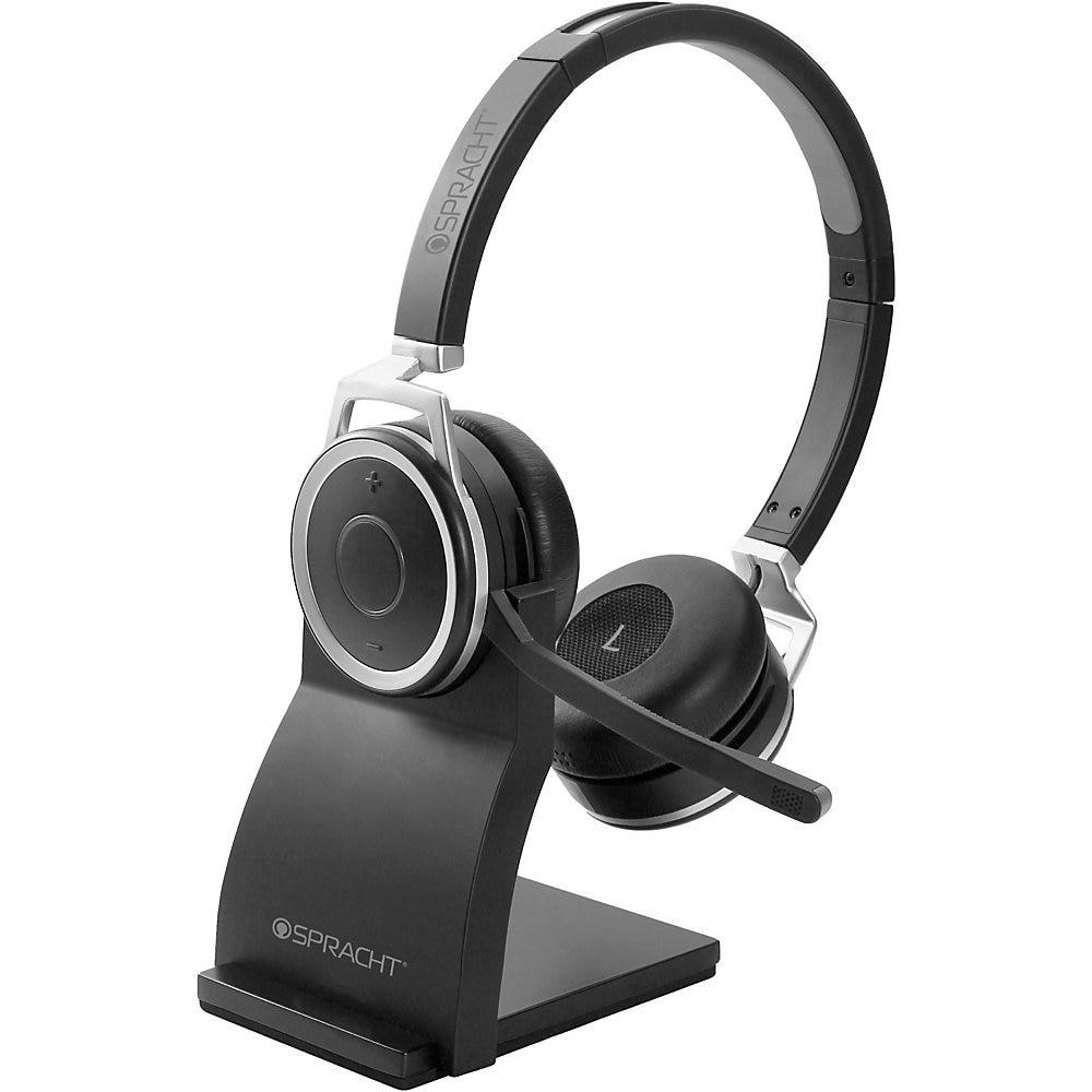 ZuM BT Prestige Headset, Binaural, Over-the-Head, Black