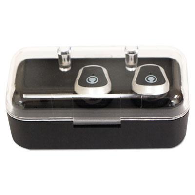 Konf Buds TW Wireless Bluetooth Ear Buds, Black/Silver