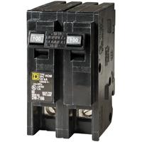 HomeLine HOM2100CP Standard Circuit Breaker, 120/240 VAC, 100 A, 2 P, 10 kA