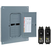 Square D HOM1224L125PGCVP Convertible Mains(Lug) Value Pack Load Center, 120/240 VAC, 125 A, 1 Phases, 24 Circuits