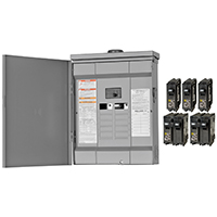 Square D HOM1224M125PRBVP Convertible Mains(Breaker) Value Pack Load Center, 120/240 VAC, 125 A, 1 Phases, 12 Spaces