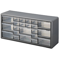 STORAGE CABINET 22 DRAWER SILVER GRAY